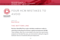 Nucleus Research: Four HCM Mistakes to Avoid