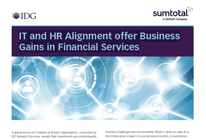 IT and HR Alignment offer Business Gains in Financial Services