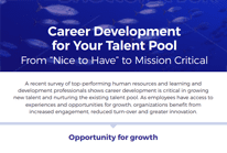 Career Development for Your Talent Pool