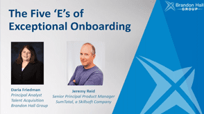 The Five 'E's of Exceptional Onboarding
