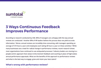 3 Ways Continuous Feedback Improves Performance