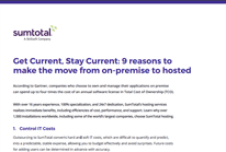 Get Current, Stay Current: 9 reasons to make the move from on-premise to hosted
