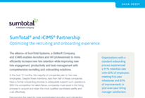 SumTotal® and iCIMS® Partnership – Optimizing the recruiting and onboarding experience