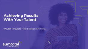 Achieving Results With Your Talent