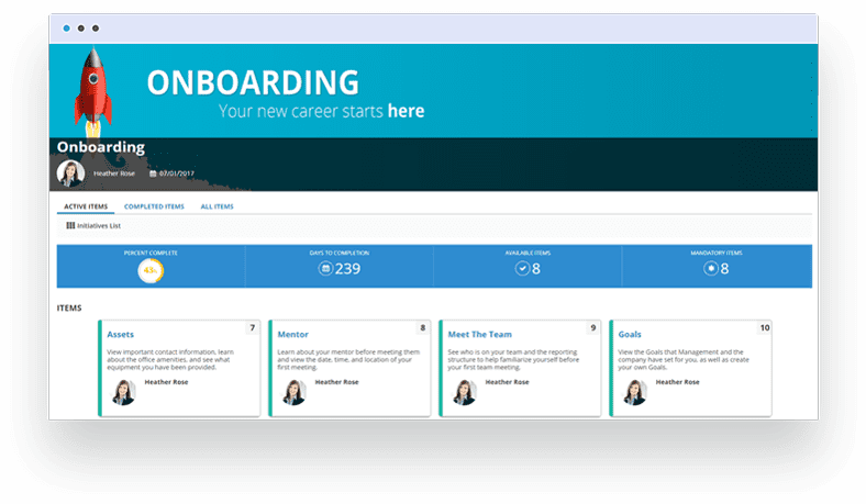 SumTotal's Onboarding solution engages new hires in a meaningful way