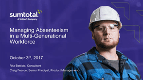 Managing Absenteeism in a Multi-Generational Workforce
