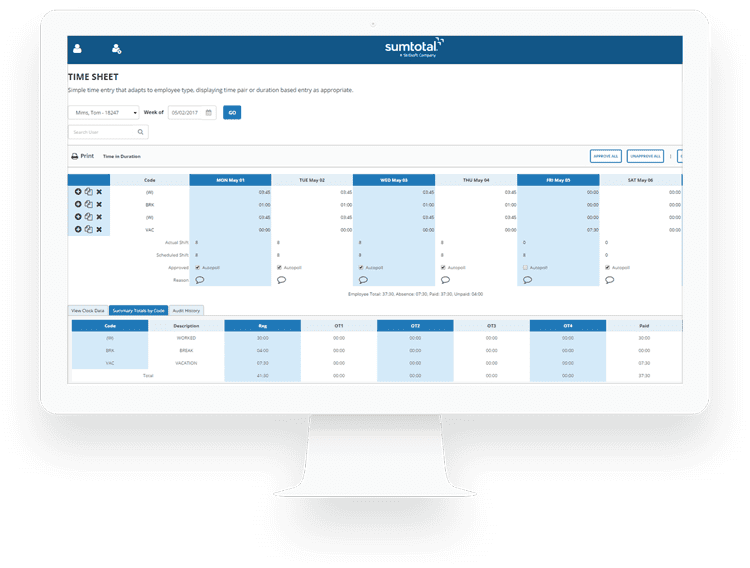 Record your employees' time & attendance with multiple easy-to-use timesheet options.