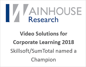 Champion in the Wainhouse Research Video Solutions for Corporate Learning 2018 report