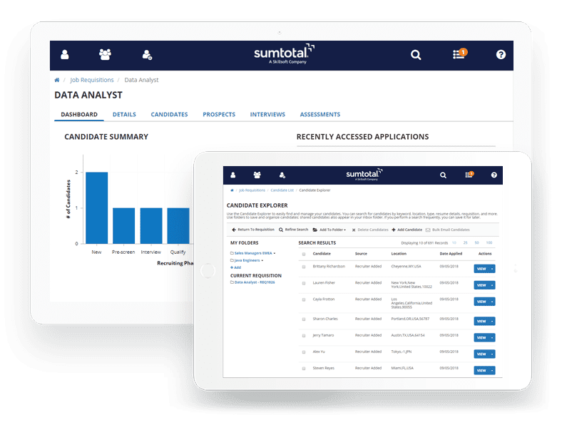 SumTotal Applicant Tracking System