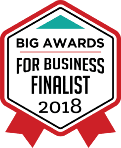 2018 Finalist in the BIG Award for Business