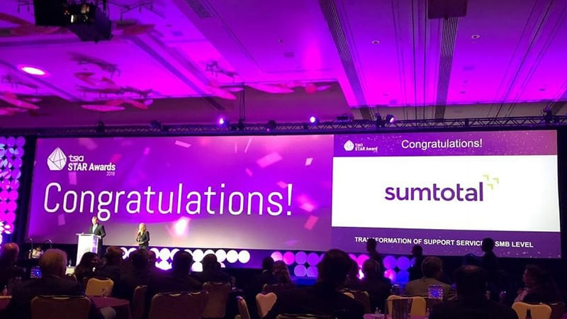 SumTotal Wins TSIA's STAR Award for Transformation of Support Services