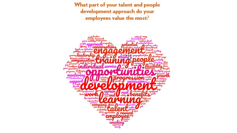 What part of your talent and people development approach do your employees value the most?