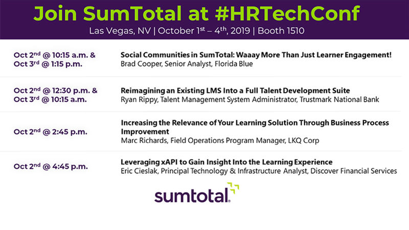Join SumTotal at the HR Technology Conference 2019 in Las Vegas