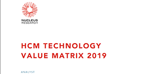 Nucleus Research HCM Technology Value Matrix 2019